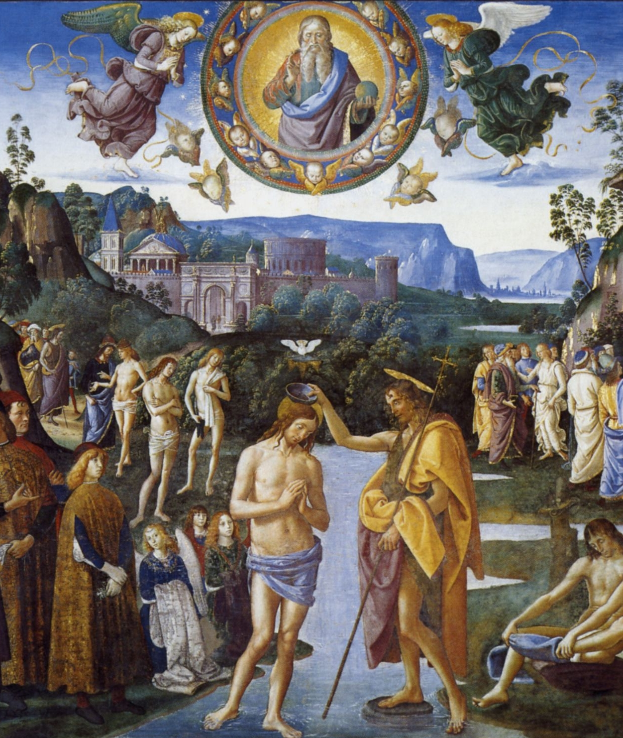 Baptism Of Christ   by Pietro Perugino, 1481-1483.