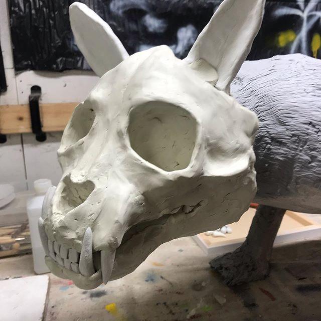 Perfectly normal Monday afternoon. #karljahnke #art#sculpture#artist#skulls#animalsculpture#artwork