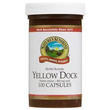 Yellow Dock in capsules is convenient, inexpensive and with a whole food diet can rebuild natural iron supply of the body.