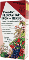 Floradix Iron Plus Herbs is available in a Yeast Free Option which I recommend.