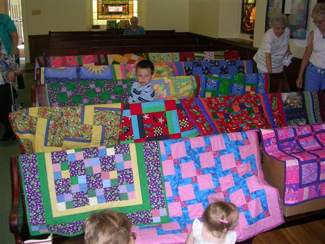 We bless each quilt before we send it to its new owner!