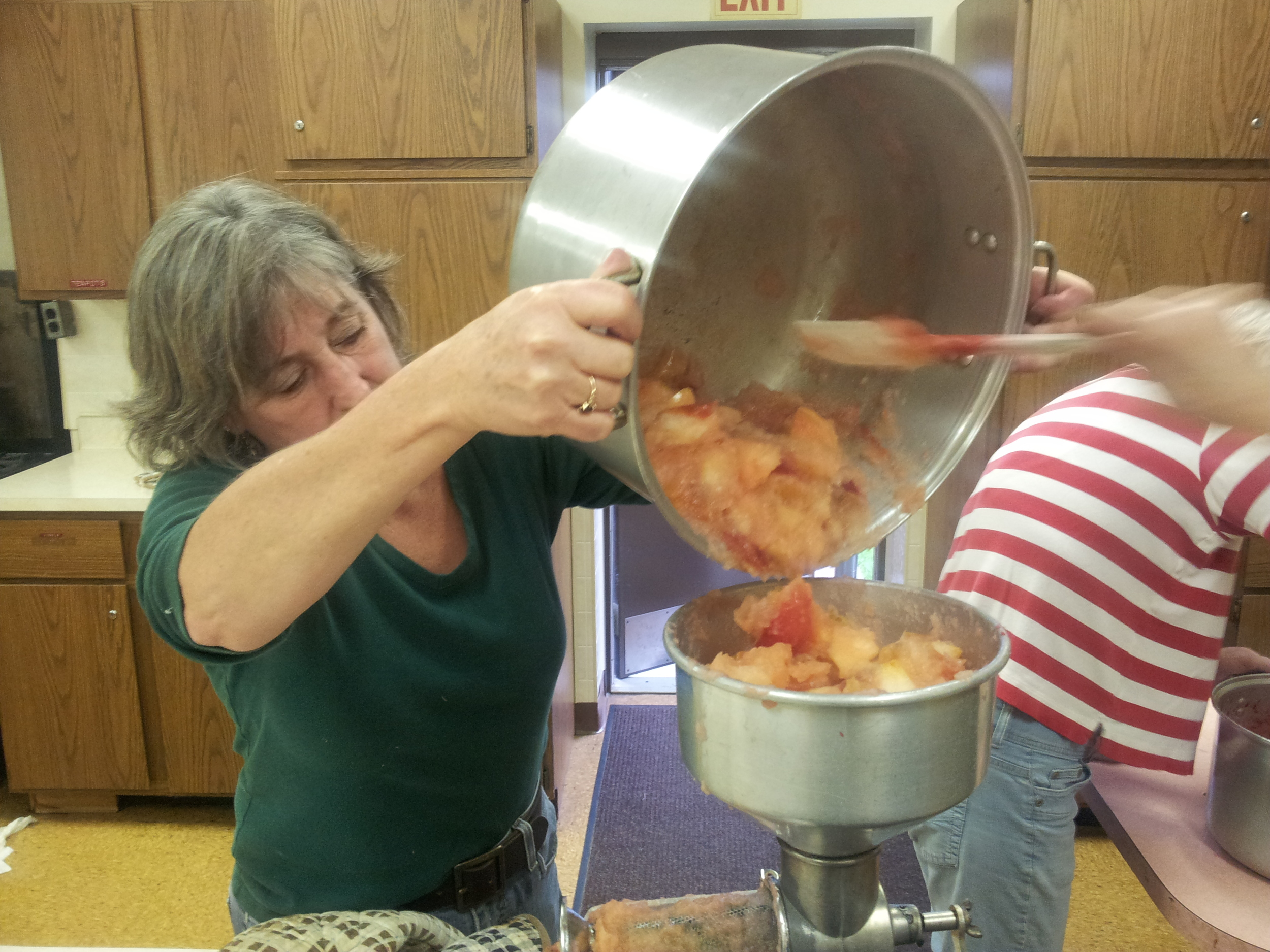 Making Cranberry Sauce!