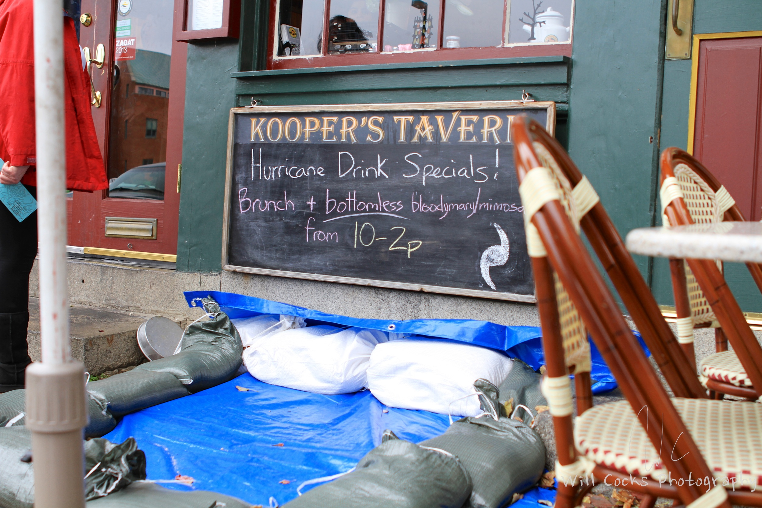Some watering holes were offering Hurricane Sandy specials