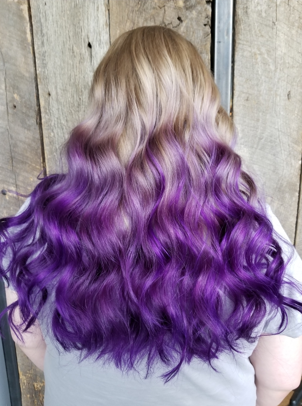 Vivid Ombre & Haircut