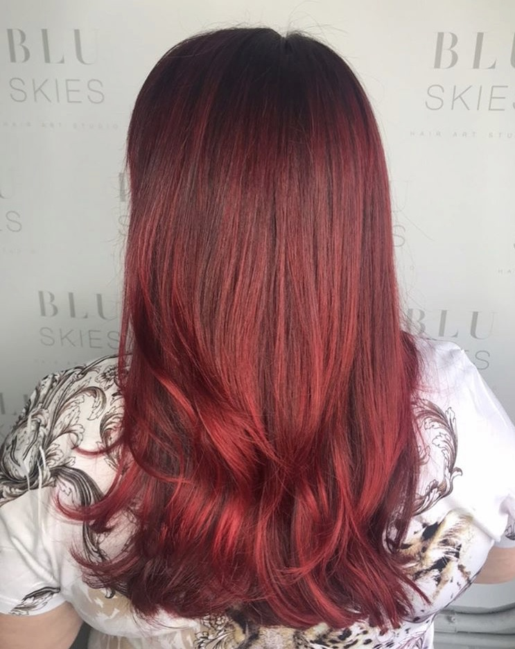 All Over Vivid Coloring & Haircut