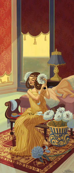 """Floral Dress"" by Jennifer Hom"