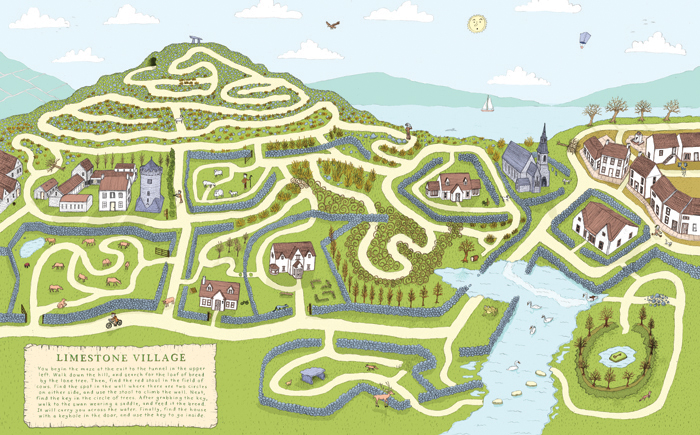 """Limestone Villiage Maze"" by Dylan Davis"