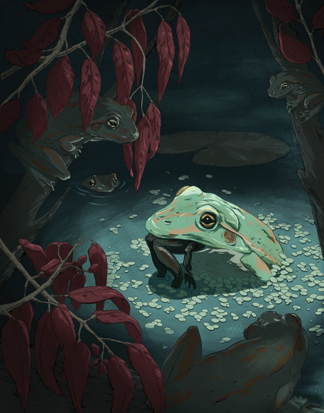 """IT'S A FROG EAT FROG WORLD"" BY CELIA KRAMPIEN"