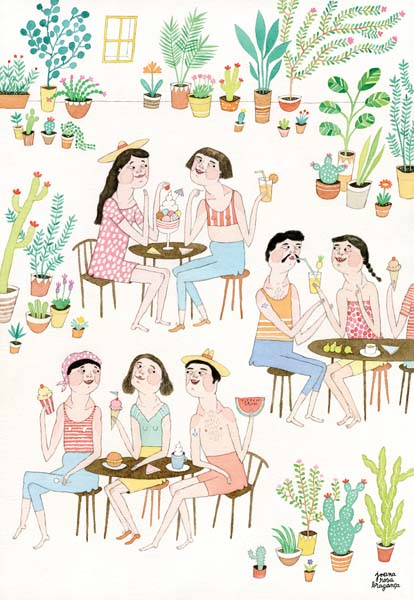 """Ice Cream Spree at the Botanical Garden"" by Joana Rosa Braganca"