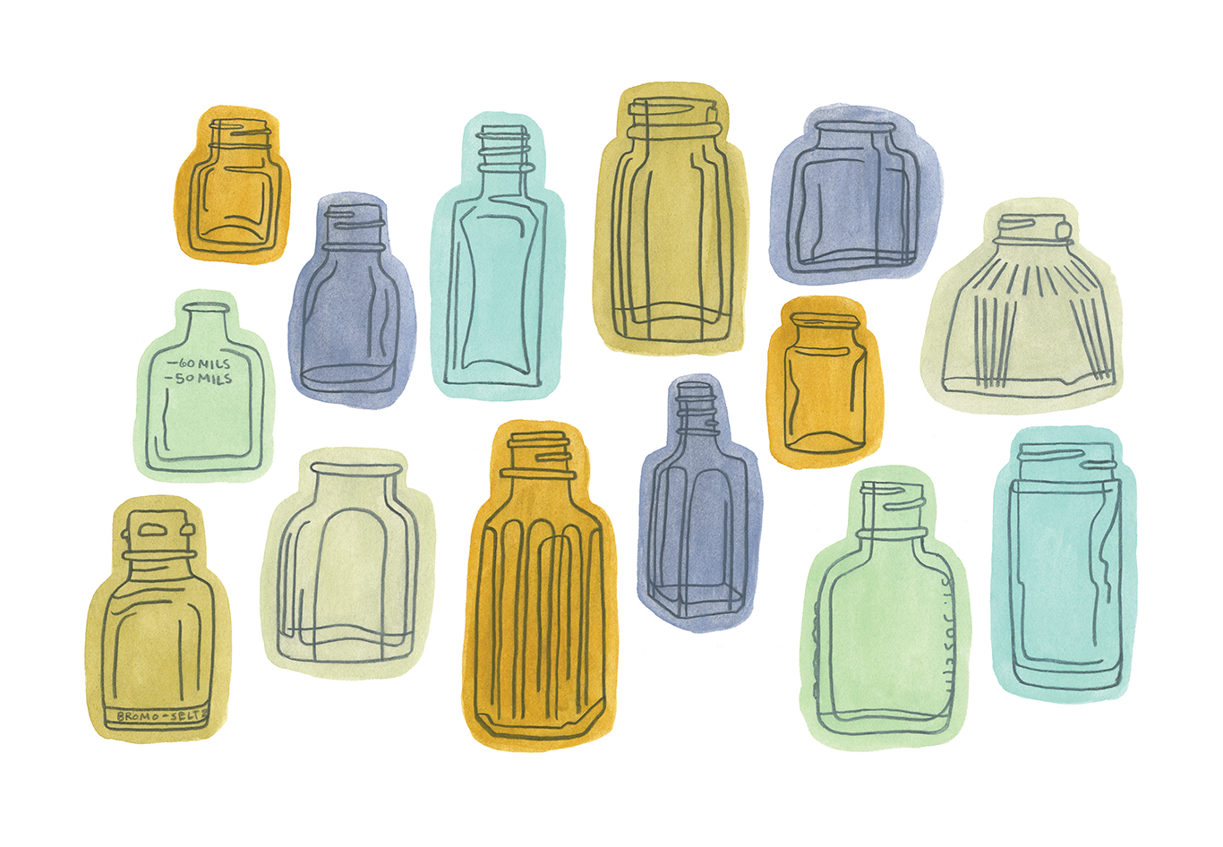 """Bottle Collection"" by Anika Starmer"