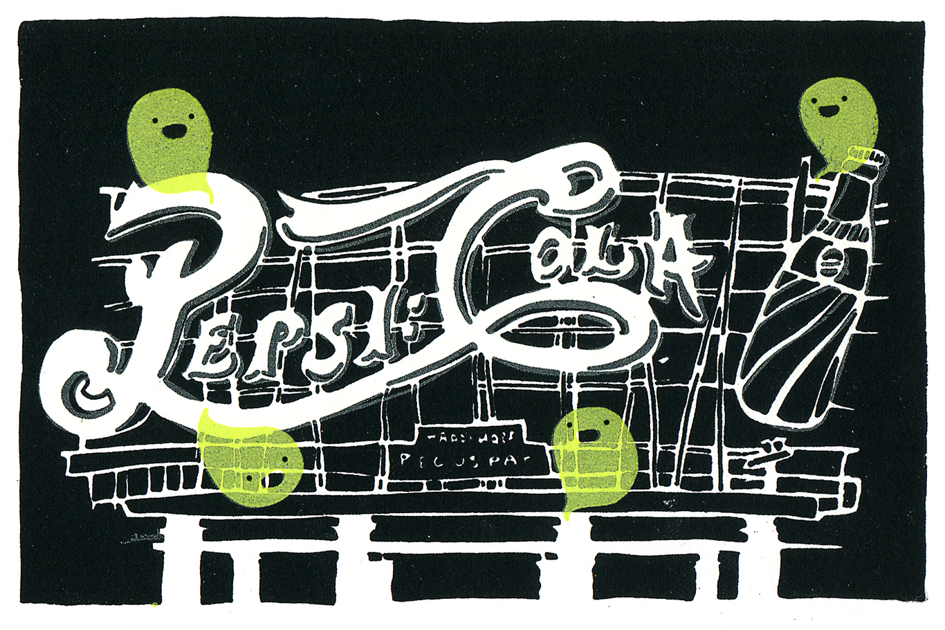 """Neon Sign Ghosts"" by Kim Ku"