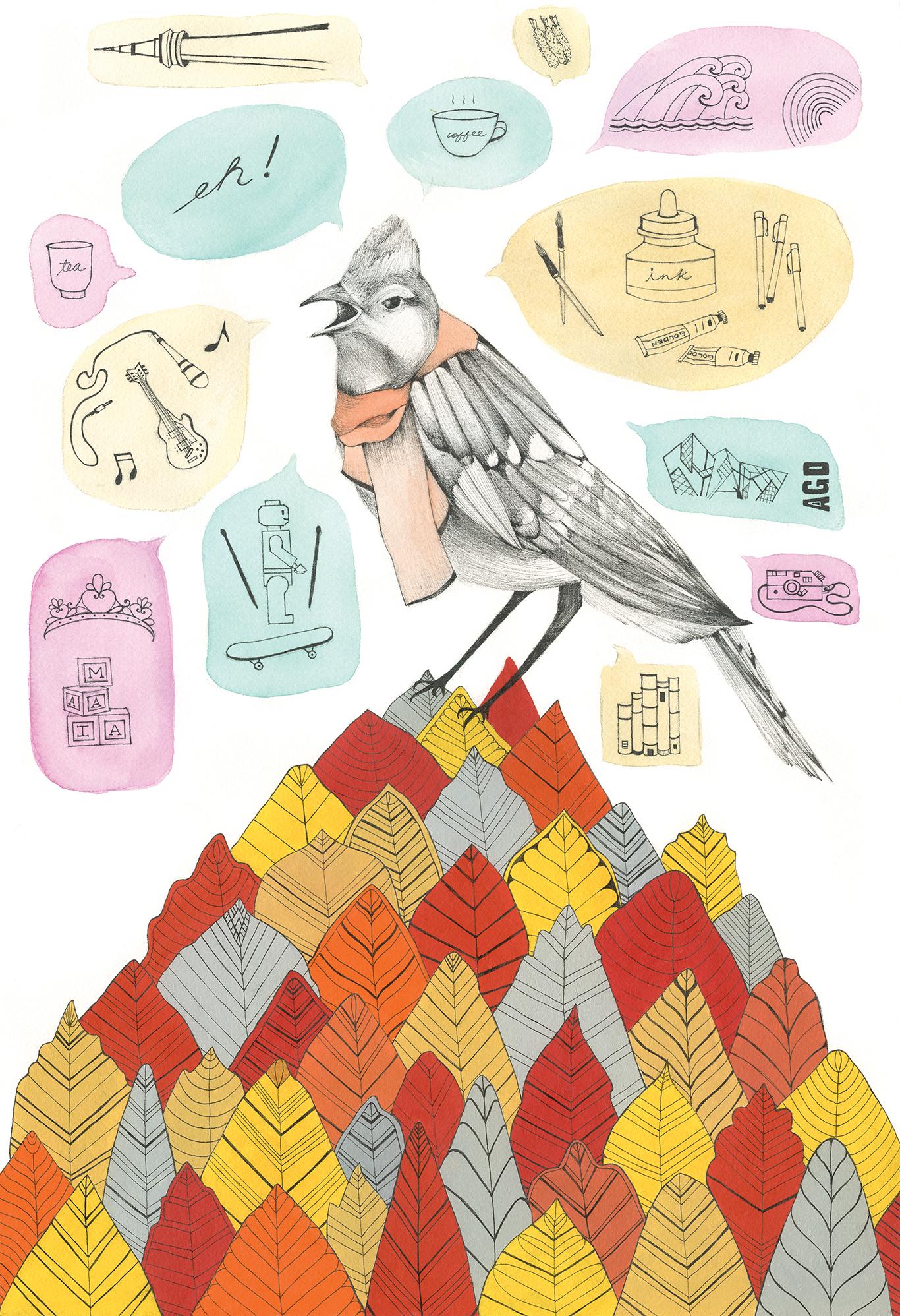 """""""Autumn Blue Jay"""" by Kathy de Castro"""