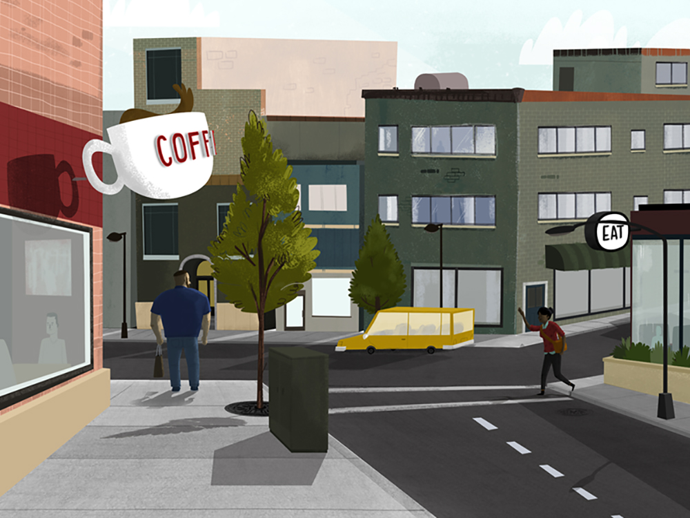 """Intersection of Coffee and Eat"" by Bill Ferenc"