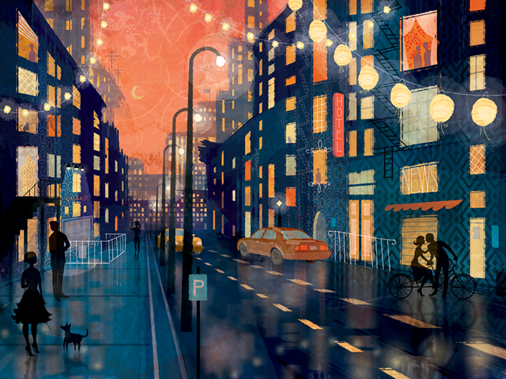 """Rainy Night"" by Claire Mojher"