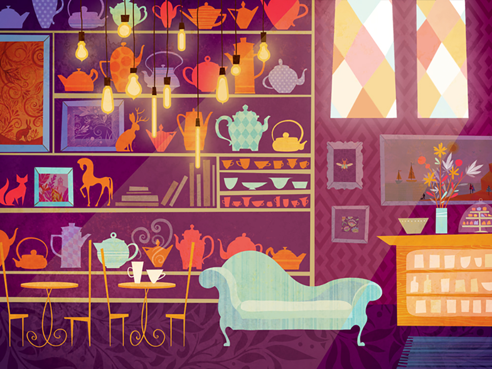 """Tea Bar"" by Claire Mojher"