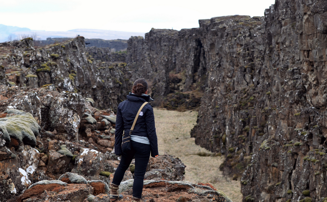 The view near Þingvellir, where the North American and Eurasian tectonic plates divide.