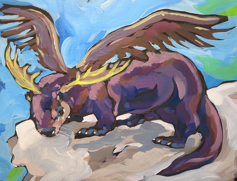 """""""Felix, the Minnesotan Ottermooseeagle"""" by Kat Corrigan"""