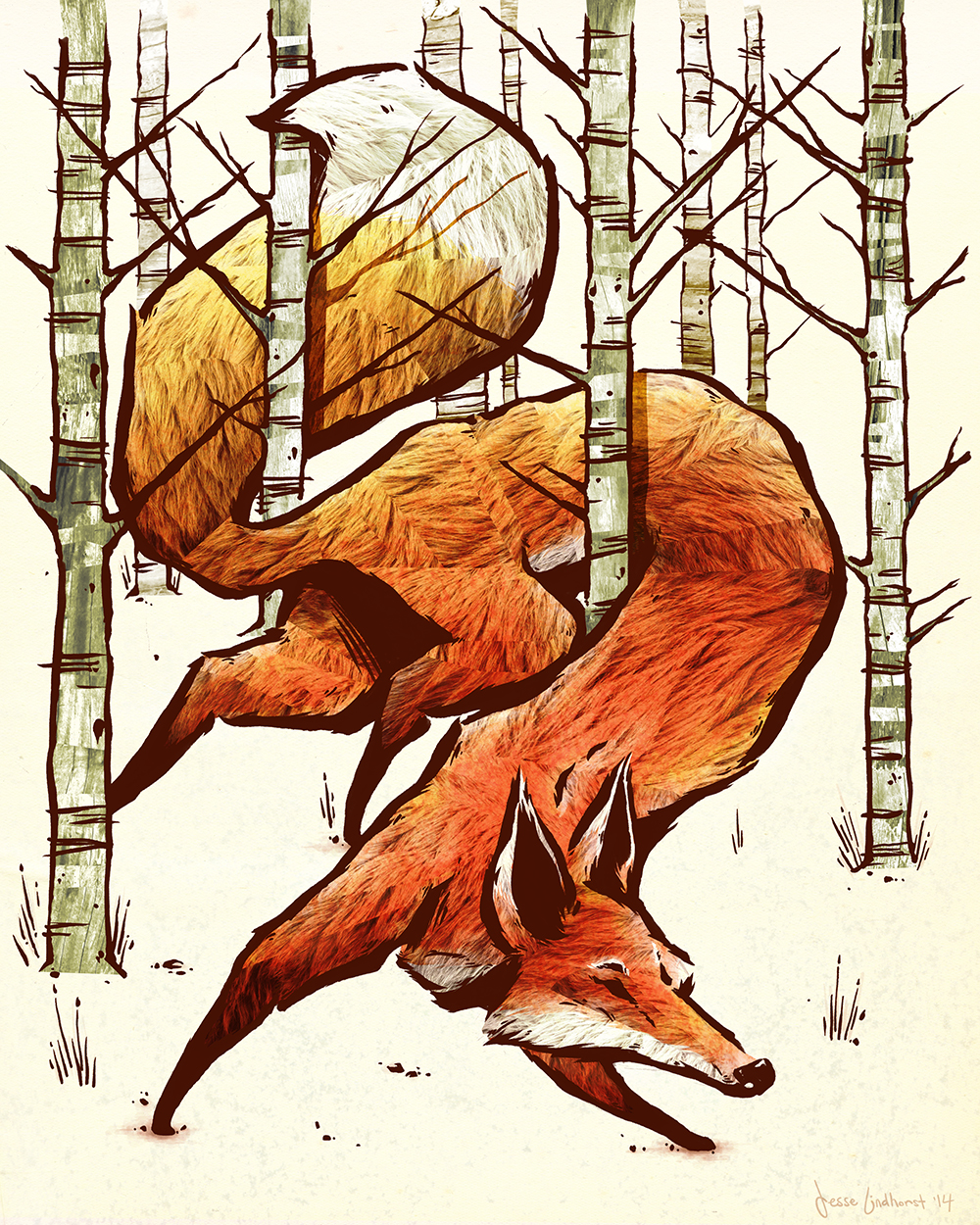 """Fanciful Fox"" by Jesse Lindhorst"