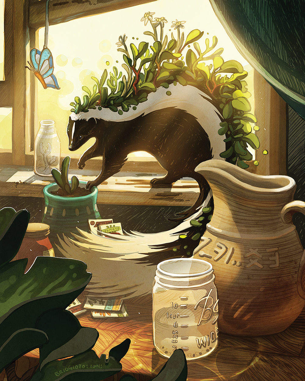 """Garden Skunk"" by Bridget Underwood"