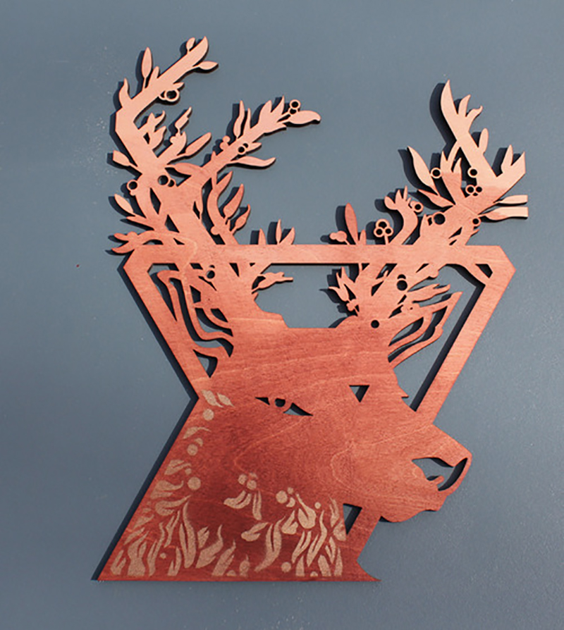 """""""Mistletoe Stag"""" by Kevin Jay Stanton"""