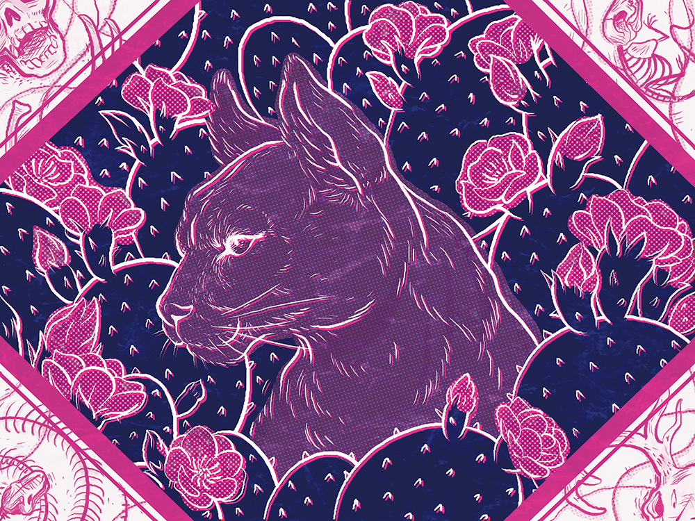 """""""Cosmic Catamount"""" by Patsy Chen"""