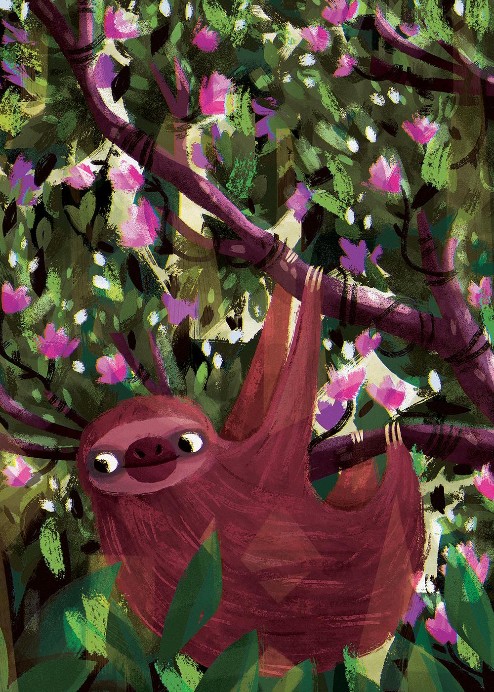 """""""Sloth"""" by Irena Freitas"""
