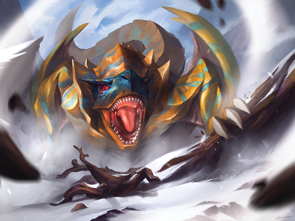 """The Roaring Wyvern"" by Charles Tan"