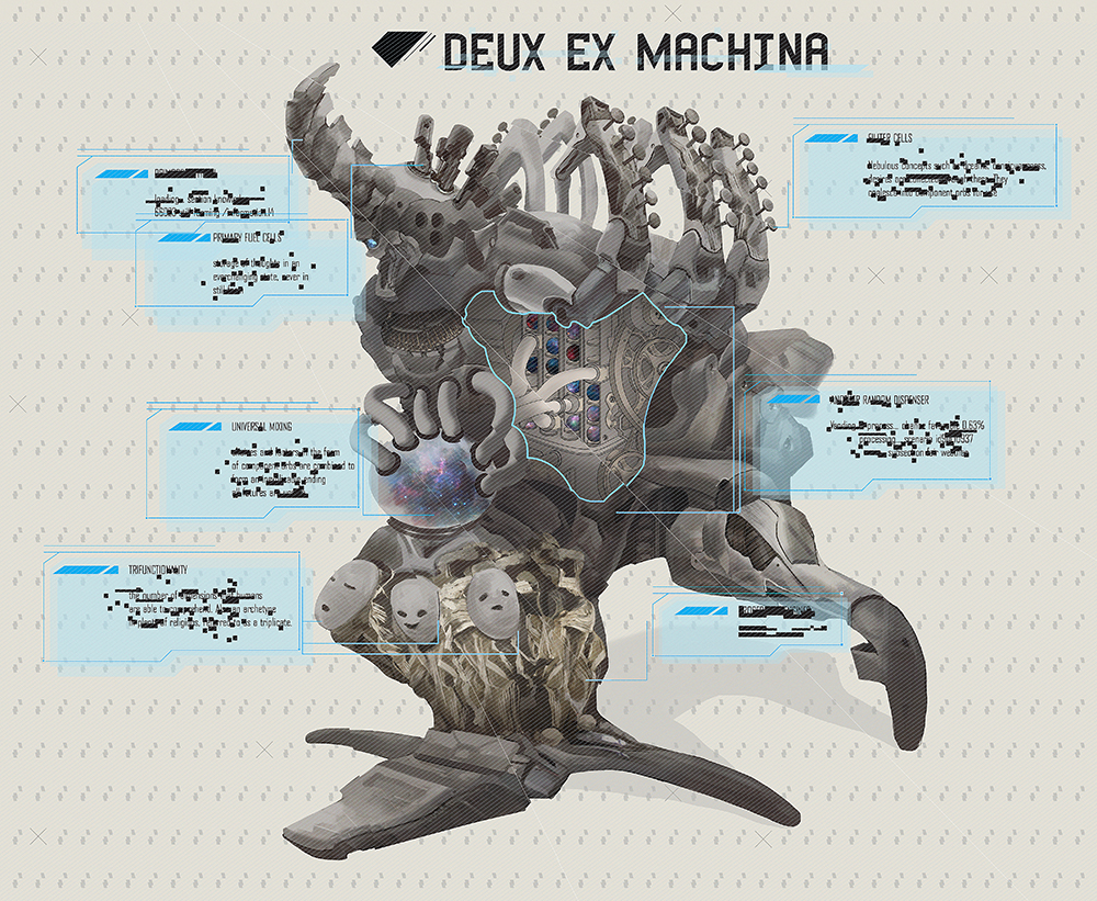 """Deux Ex Machina""by Jessica Cheng"