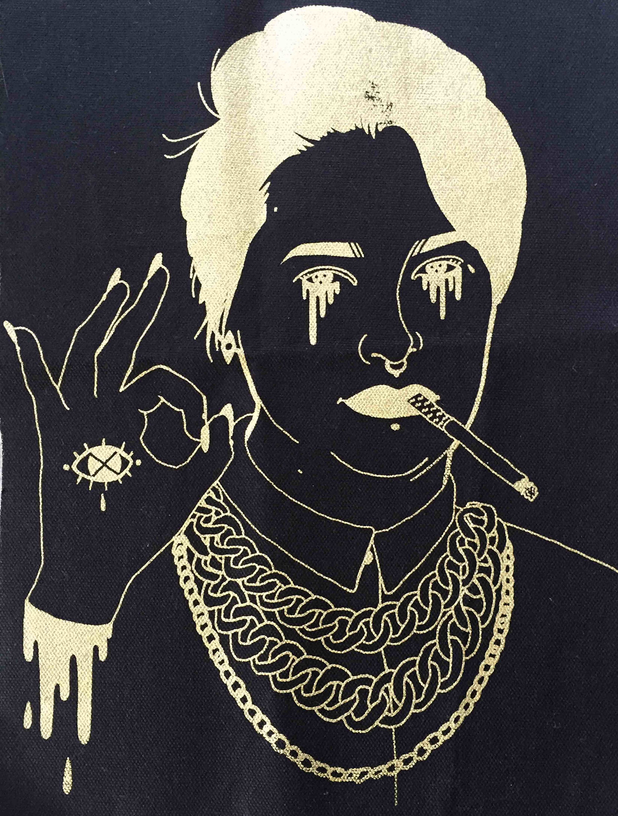 """Gold Back Patch"" by Asia Scott"
