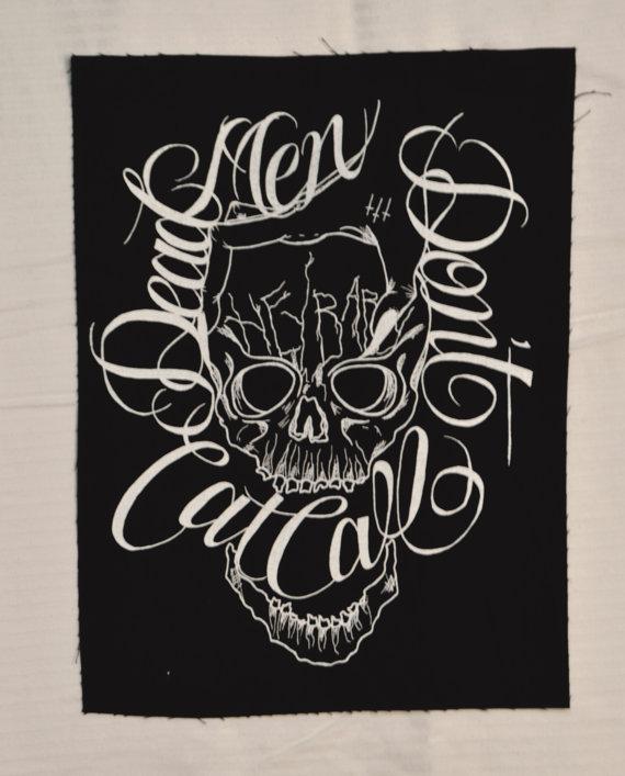 """Hard Femme Regalia: Dead Men Don't Cat Call Studded Vest."" by Rhys Jones of Lowwbones"