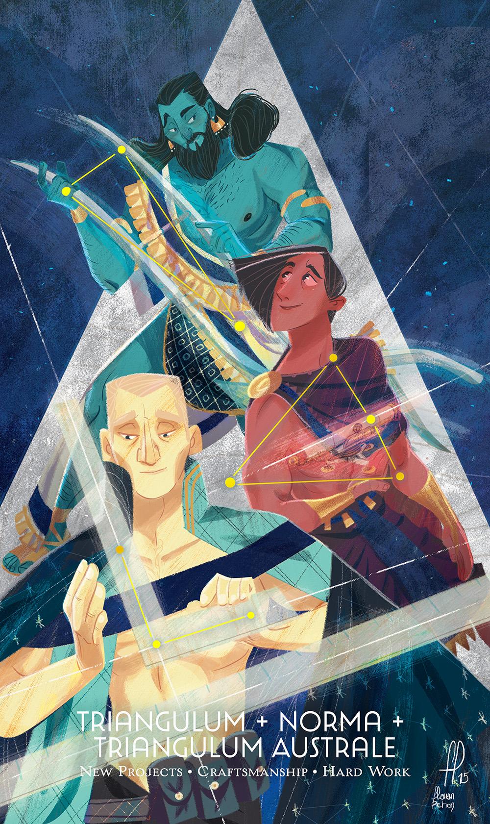 """""""Triangulum + Norma + Triangulum Australe"""" by Florian Pichon"""