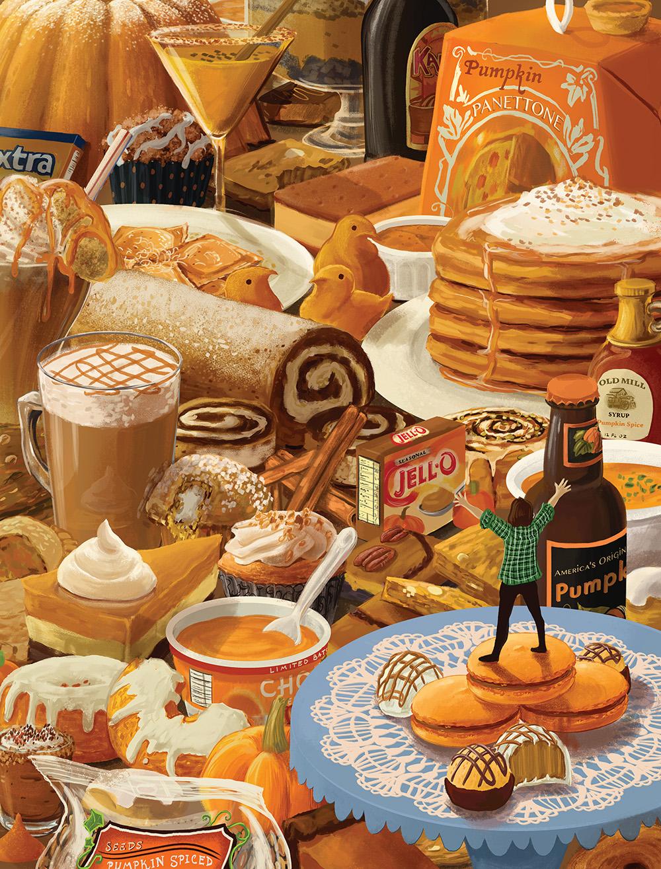 """Pumpkin Spice Paradise "" by Lydia Guadagnoli"