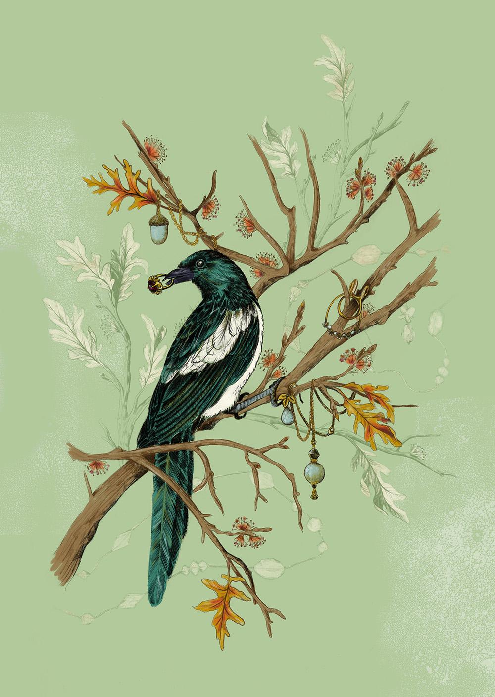 """Magpie Jewels"" by La Scarlatte (Pauline Teunissen)"