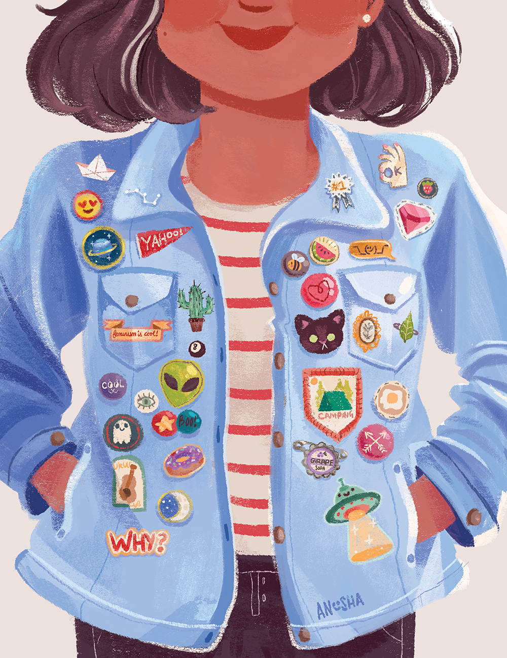 """Patches & Pins"" by Anoosha Syed"