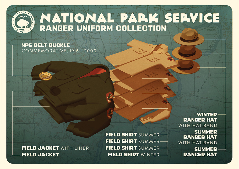 """NPS Ranger Uniform Collection"" by Claire Hummel"