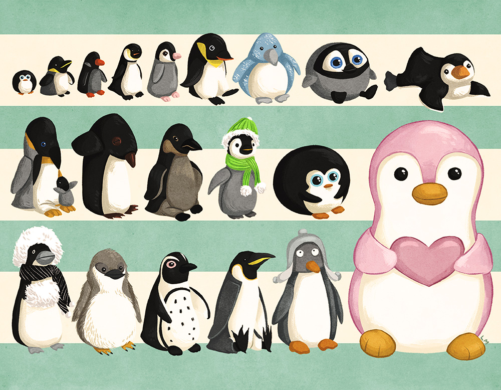 """Plushguin Colony"" by Lisa Manuzak"