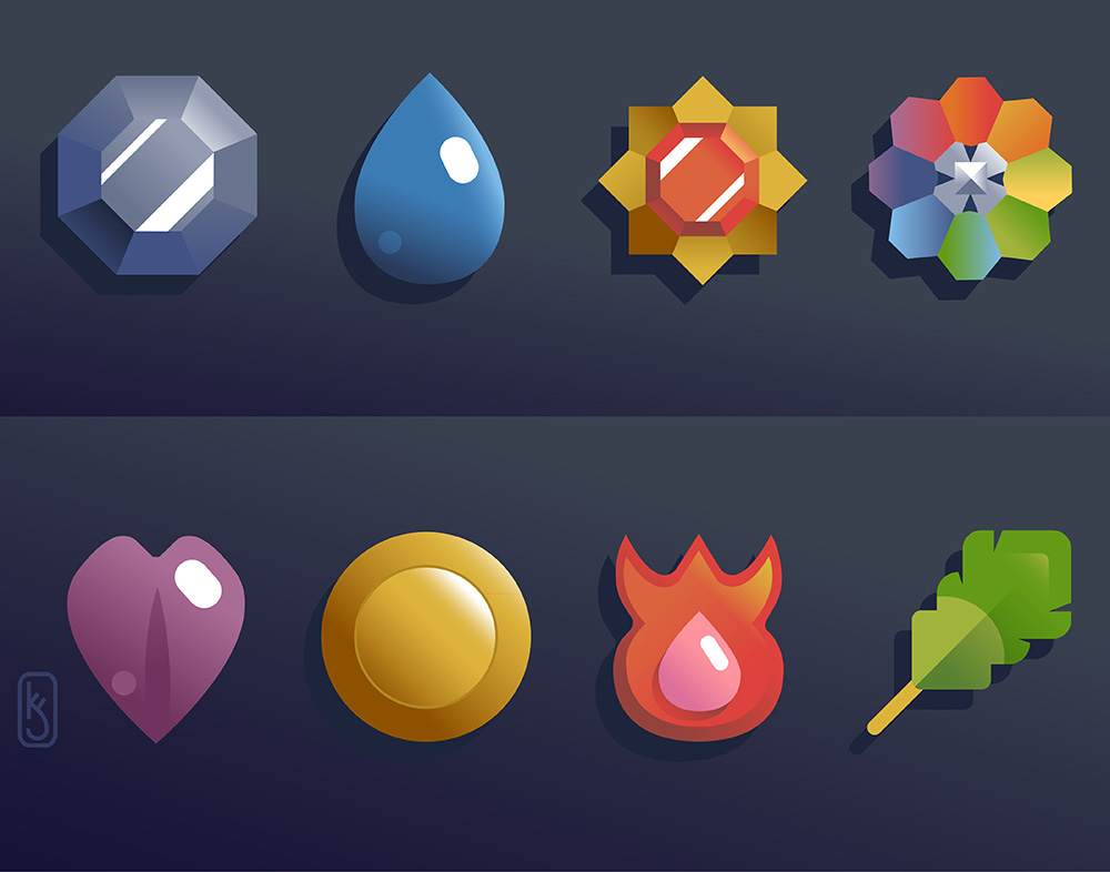 """Badge Collection, Kanto"" by Kevin Jay Stanton"
