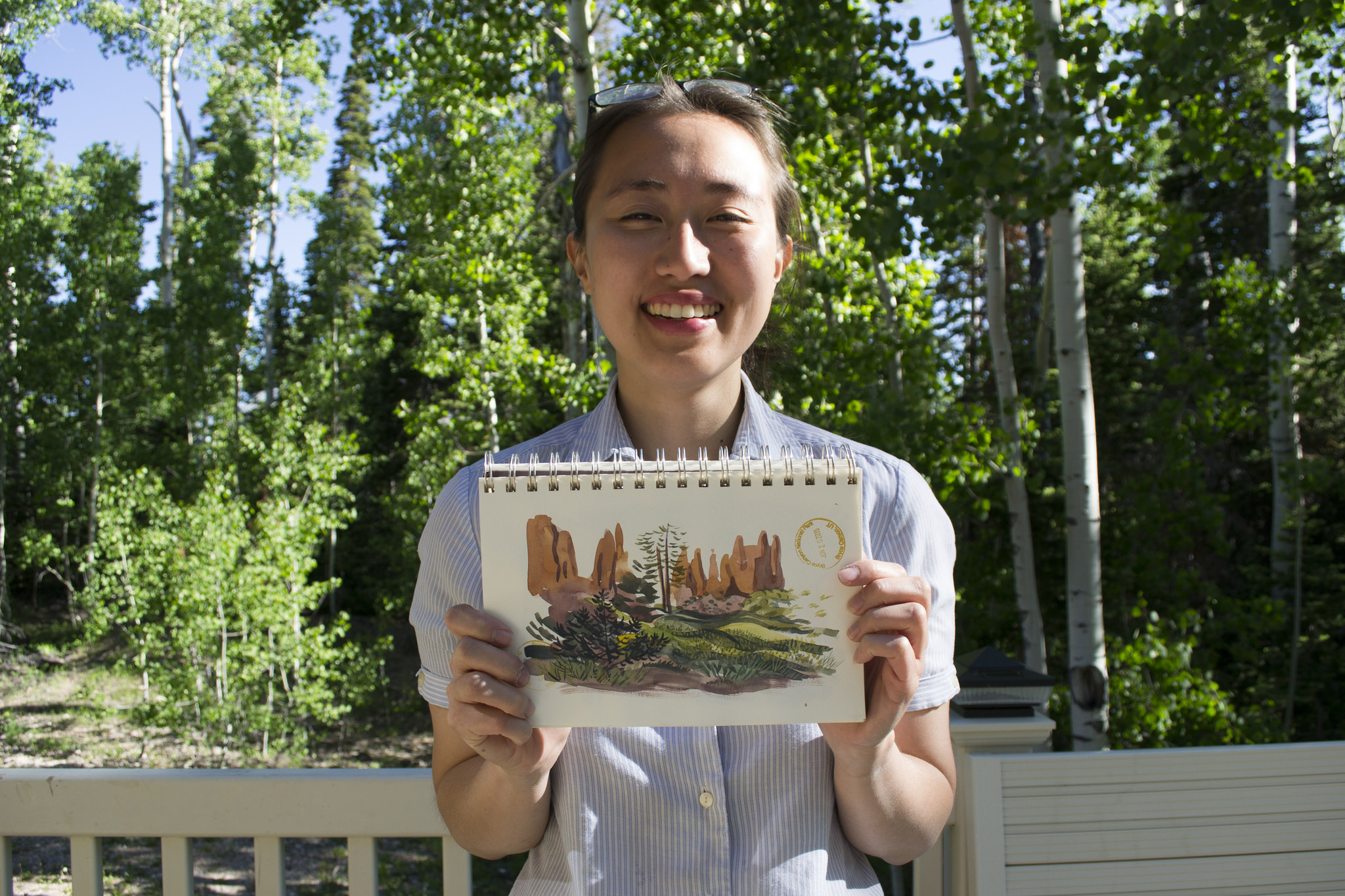 Caroline Hadilaksono shares her watercolor paintings of Bryce Canyon.