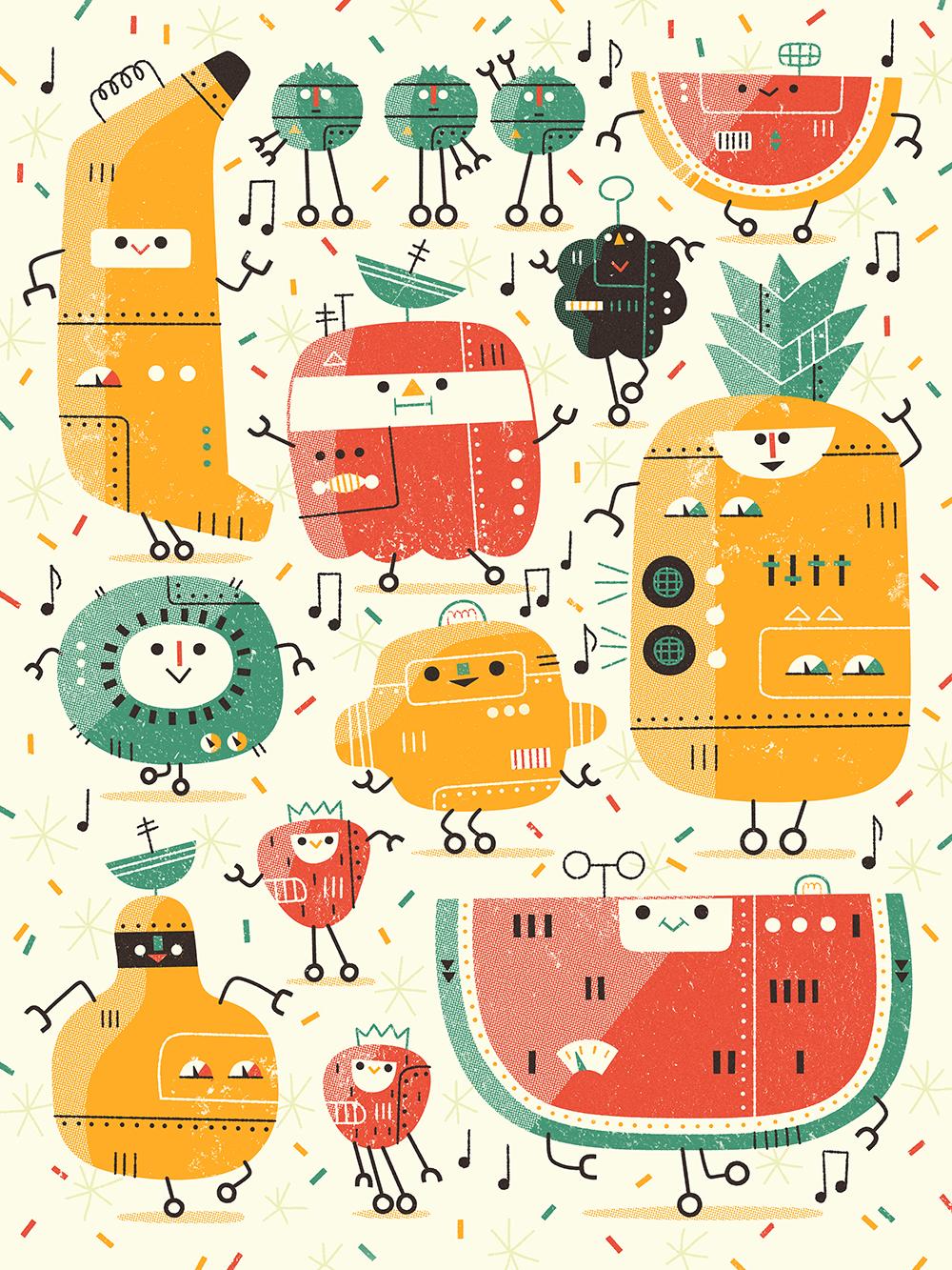 """Fruitbots!"" by Andrew Kolb"