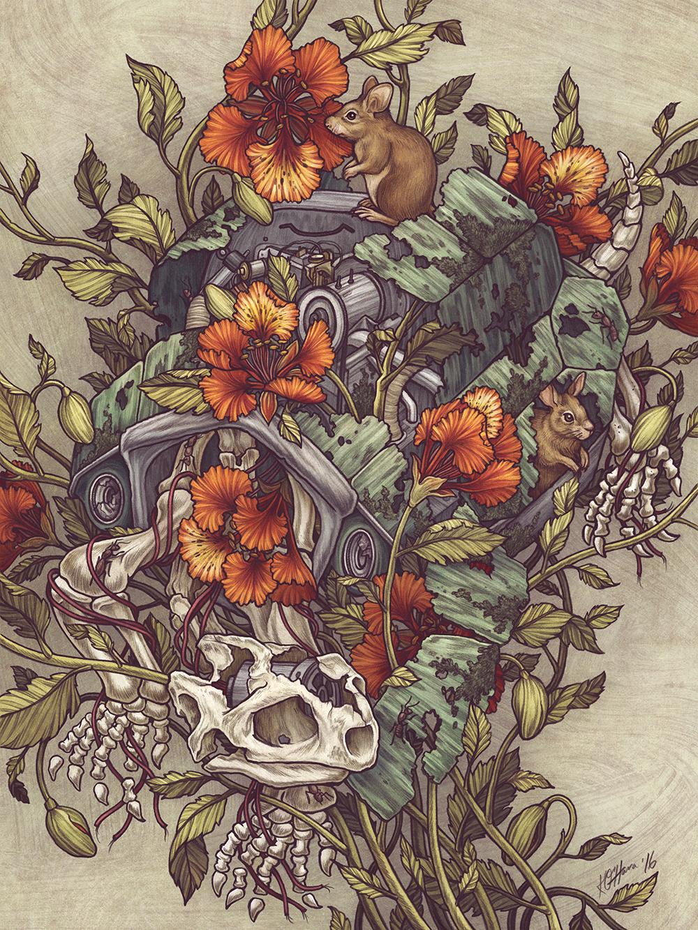 """""""VW Tortoise """" by Kate O'Hara"""