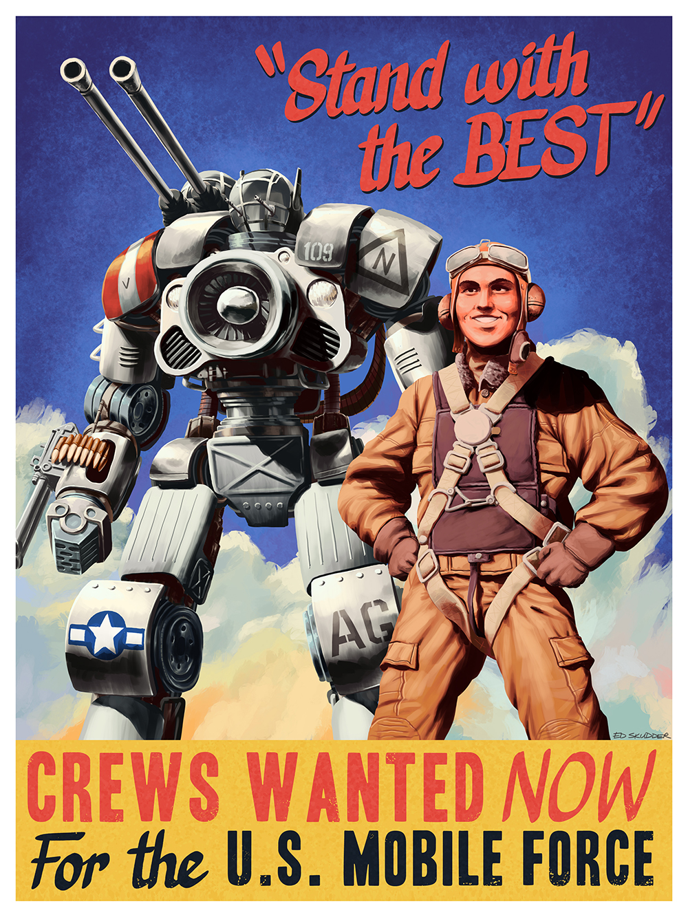 """Mobile Force Propaganda Poster"" by Ed Skudder"