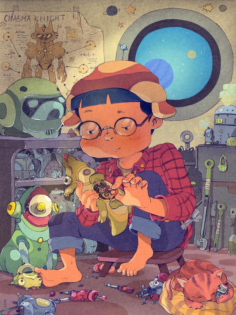 """The Toy Maker"" by Boya Sun"