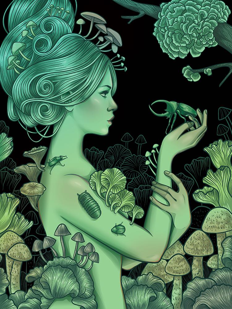 """Ghost Mushrooms"" by Kelly Wagner"