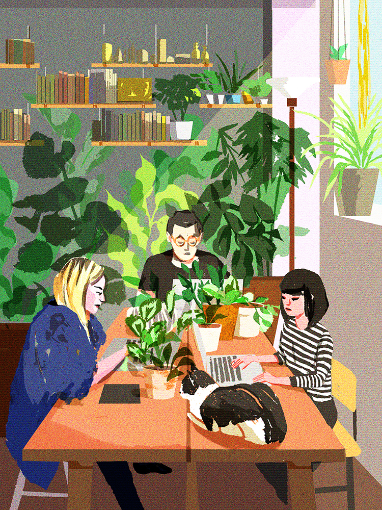 """Lunchroom"" by Jenn Liv"
