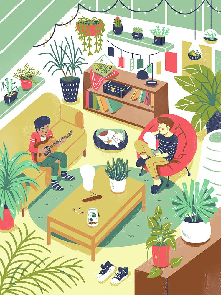 """Green Home"" by Ann Macarayan"