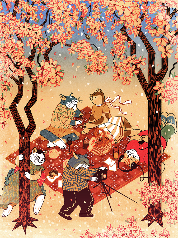 """Sakura Picnic"" by Rachel Maves"