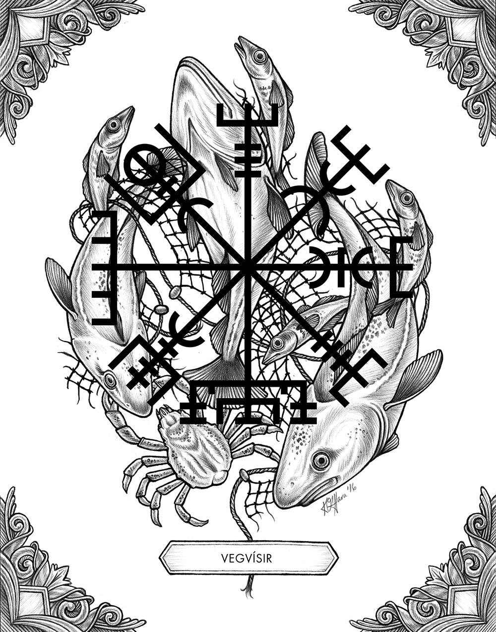 """Stafir Móti Aðsókn - To avoid ghosts and evil spirits"" by Kate O'Hara"