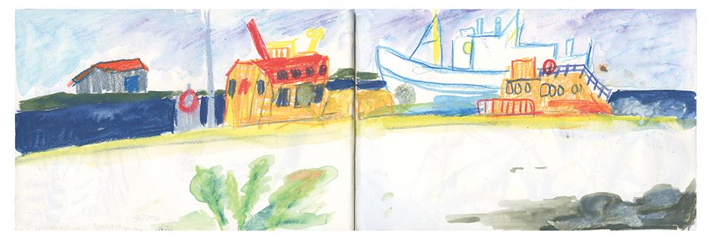 """Sketchbook (Höfn)"" by Ana Benaroya"