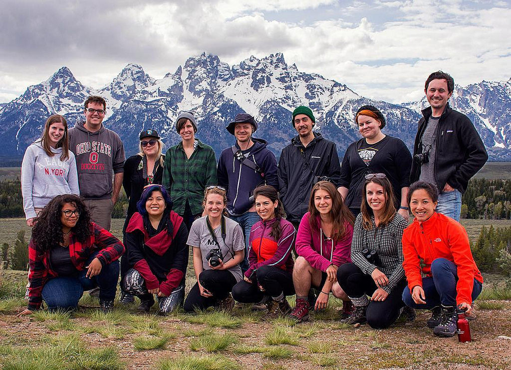 Light Grey Art Camp: Grand Teton National Park Group of artists in front of the Tetons!