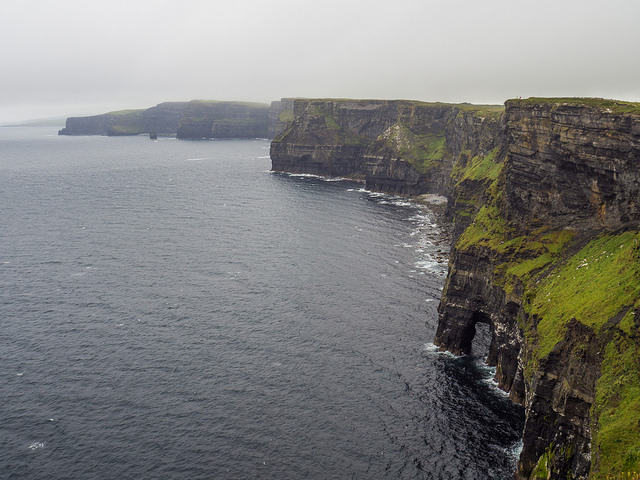 Artists hiked along the Burren Way that follows the famous Cliffs of Moher.